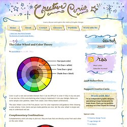 Creative Curio » The Color Wheel and Color Theory