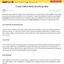 5 most creative dental advertising ideas