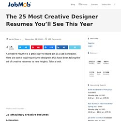 The 25 Most Creative Designer Resumes You'll See This Year