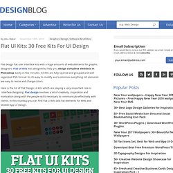 Creative Flat UI Kits for Designers