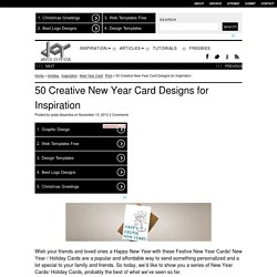 50 Creative New Year Card Designs for Inspiration