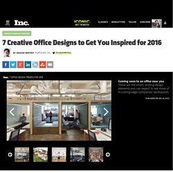 7 Creative Office Designs to Get You Inspired for 2016