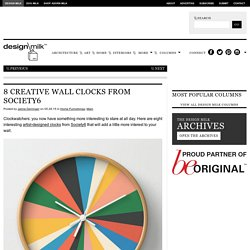 8 Creative Wall Clock Designs from Society6