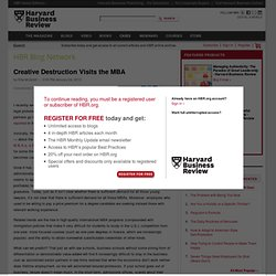 Creative Destruction Visits the MBA - Rita McGrath
