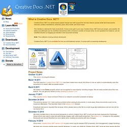 Creative Docs .NET - Get Creative!