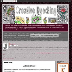 Outlines (strings & fleurs mandalas) [Creative Doodling with Judy West] Dernier : Outline 27 + Flower Outline 1