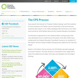 The CPS Process - Creative Education Foundation