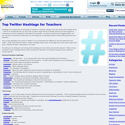 More Hashtags for Teachers