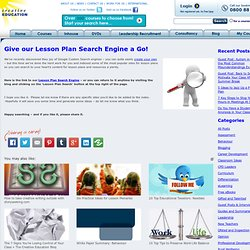 Creative Education's Lesson Plan Search Engine