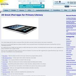 20 Great iPad Apps for Primary Literacy