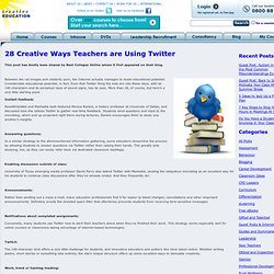 28 Creative Ways Teachers are Using Twitter