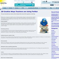 28 Creative Ways Teachers are Using Twitter