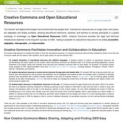Creative Commons and Open Educational Resources