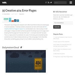 35 Creative 404 Error Pages