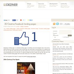 30 Creative Facebook landing pages « INDEZINER - Flock