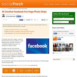35 Creative Facebook Fan Page Photo Strips