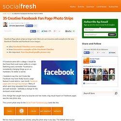 35 Creative Facebook Fan Page Photo Strips