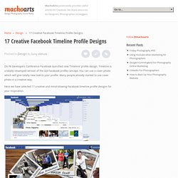 17 Creative Facebook Timeline Profile Designs