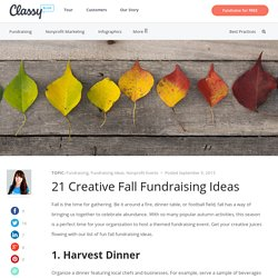 21 Creative Fall Fundraising Ideas