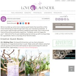 Creative Guest Books | Love and Lavender