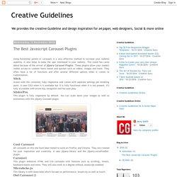 Creative Guidelines- The Best Javascript Carousel Plugins