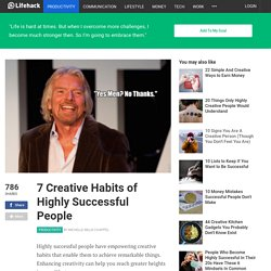 7 Creative Habits of Highly Successful People