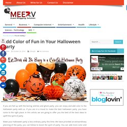 How to Throw Creative Halloween Party with Colors