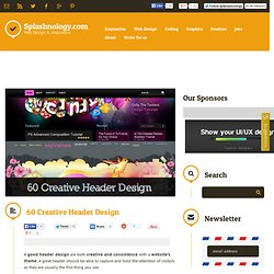 60 Creative Header Design