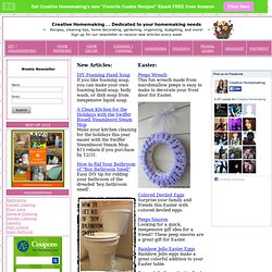 Creative Homemaking...Dedicated to all of Your Homemaking Needs