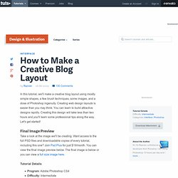 How to Make a Creative Blog Layout