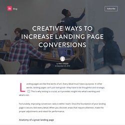 Creative ways to increase landing page conversions