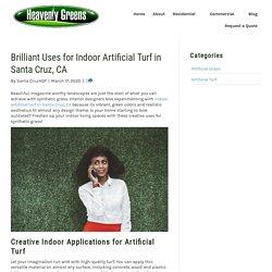 Creative Ideas for Using Indoor Artificial Turf in Santa Cruz, CA