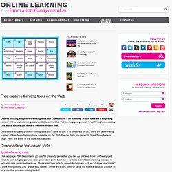 Free creative thinking tools on the Web