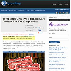 30 Unusual Creative Business Card Designs For Your Inspiration
