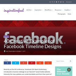 40 Creative Examples of Facebook Timeline Designs