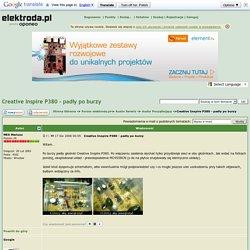 Creative Inspire P380 - padły po burzy - elektroda.pl