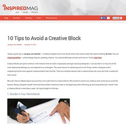 10 Tips to Avoid a Creative Block