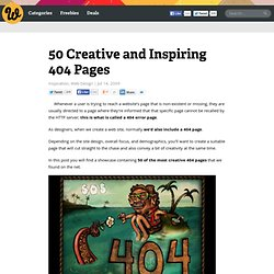 50 Creative and Inspiring 404 Pages