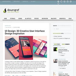 UI Design: 30 Creative User Interface Design Inspiration