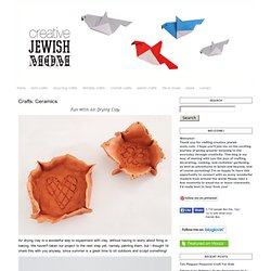 creative jewish mom: Crafts: Ceramics