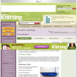Creative Knitting Newsletter