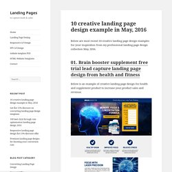 10 creative landing page design example in May, 2016