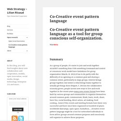 Co-Creative event pattern language