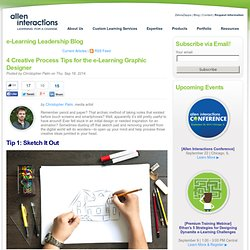 4 Creative Process Tips for the e-Learning Graphic Designer