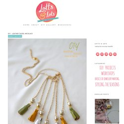 DIY - Leather Tassel Necklace