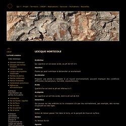 CREAF / Forêt créative — Lexique horticole