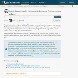 Le droit d'auteur, Creative Commons et les licences sur Zeste de Savoir