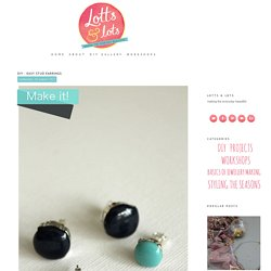 DIY - Easy stud earrings