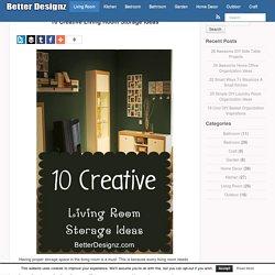 10 Creative Living Room Storage Ideas