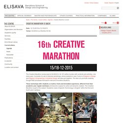 Creative Marathon is back!